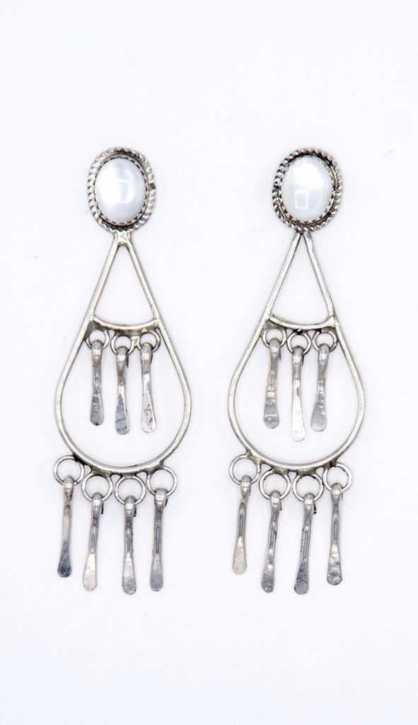 Mother of Pearl Dangles - Bow&Arrow