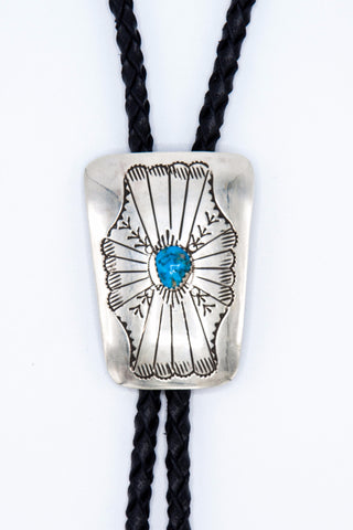 Stamped Turquoise Bolo Tie