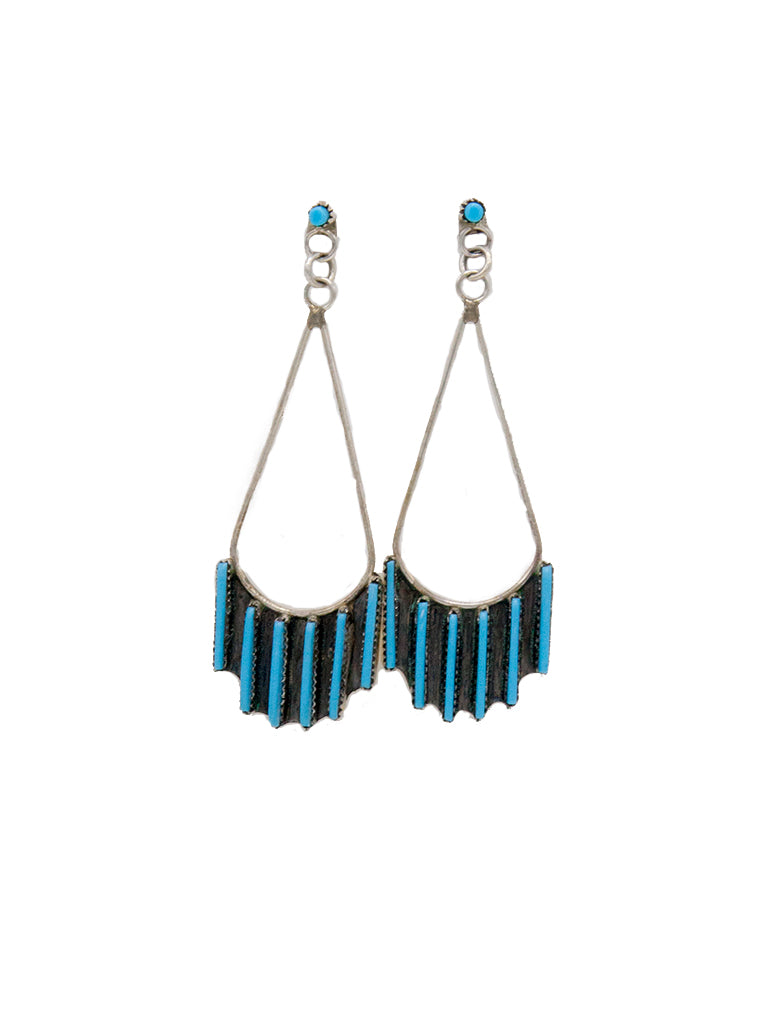 Needlepoint Teardrop Earrings - Bow&Arrow