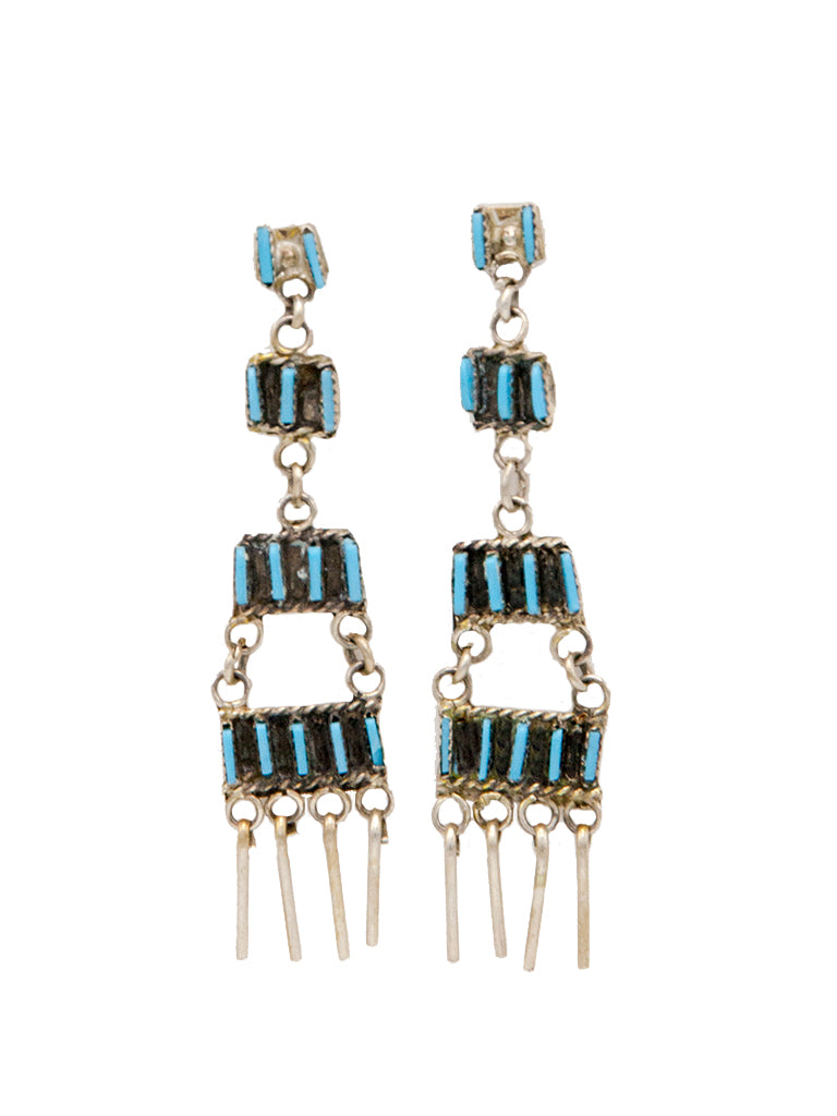 Needlepoint Chandelier Earrings - Bow&Arrow