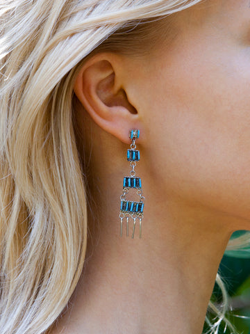 Needlepoint Chandelier Earrings