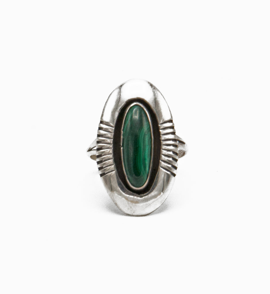 Malachite Shadowbox Ring - Bow&Arrow