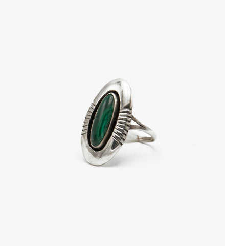Malachite Shadowbox Ring