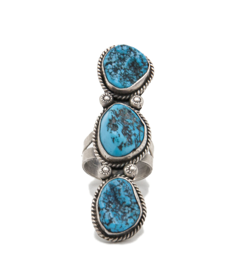 Turquoise Nugget Ring - Bow&Arrow