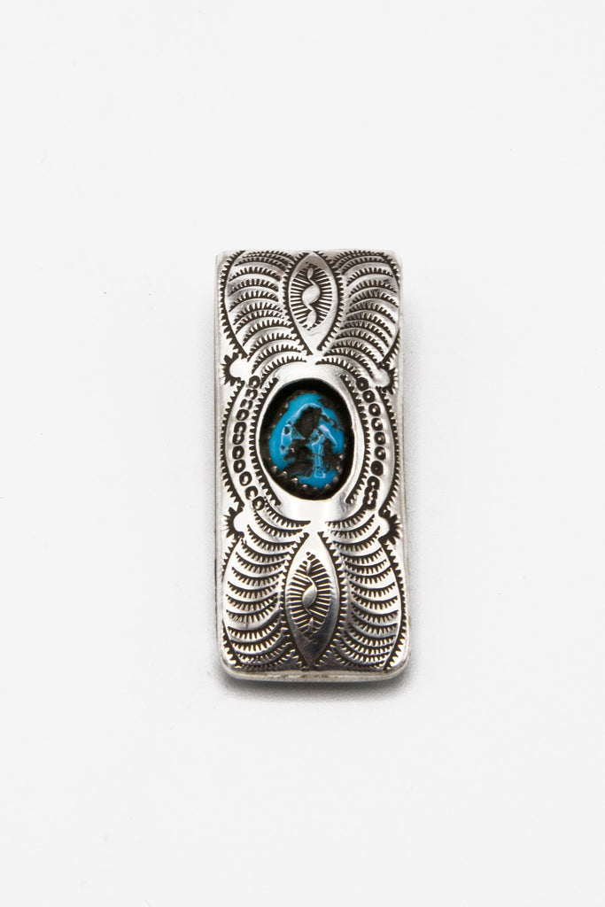 Turquoise Shadowbox Money Clip - Bow&Arrow