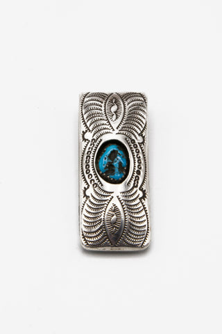 Turquoise Shadowbox Money Clip