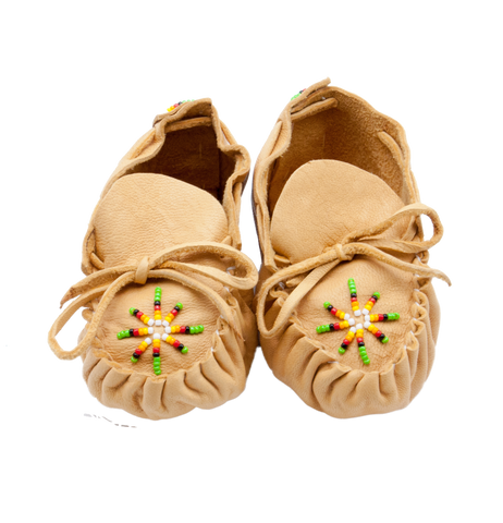 Hand Beaded Baby Moccasins
