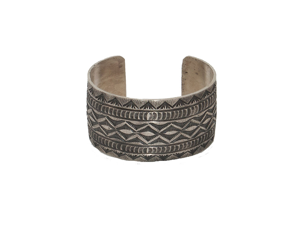 Sterling Tufa Cuff - Bow&Arrow