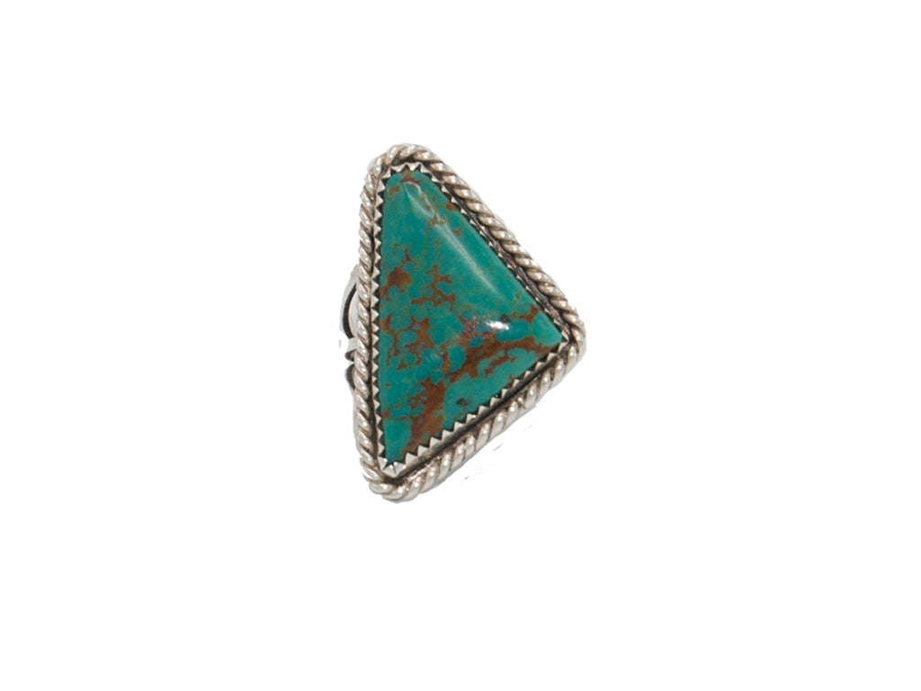 Turquoise Triangle Ring - Bow&Arrow