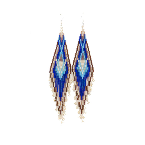 Needlepoint Teardrop Earrings