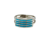 Zuni needlepoint Turquoise Women's ring