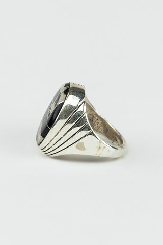 Black Onyx Oval Inlay Ring