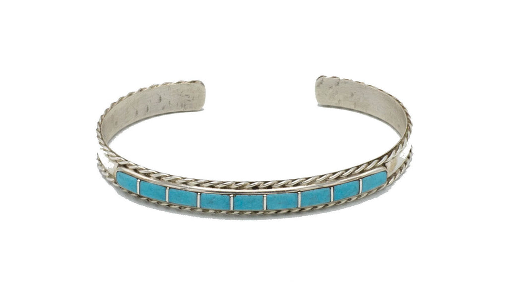 Turquoise Square Inlay Cuff - Bow&Arrow