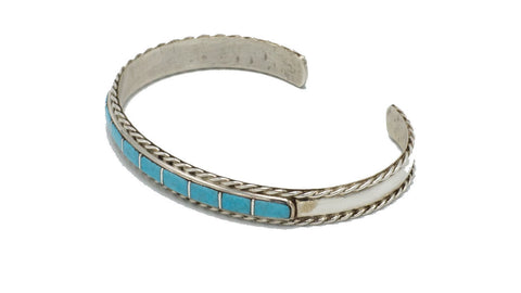 Turquoise Square Inlay Cuff