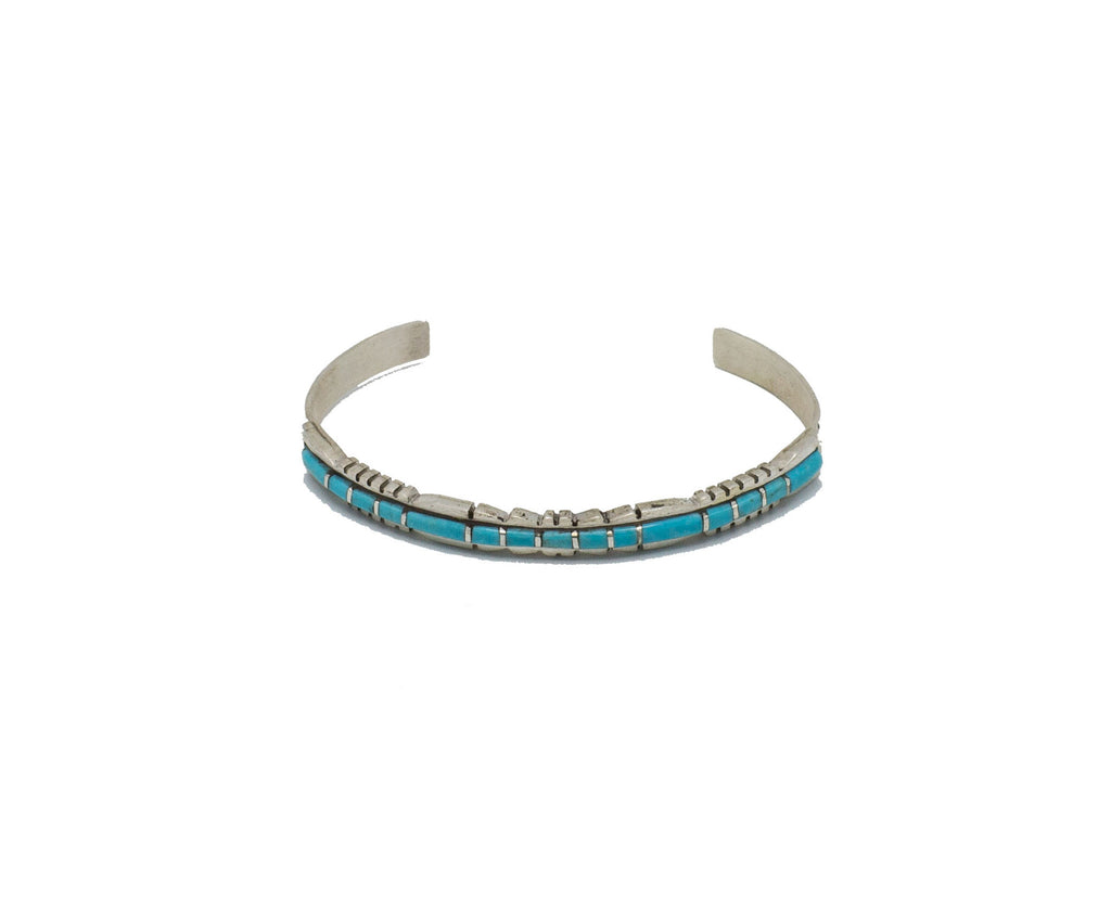 Turquoise Inlay cuff - Bow&Arrow