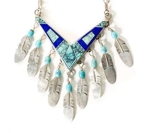 Feathered Inlay Necklace