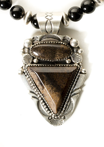 Petrified Palm Arrow Head Necklace