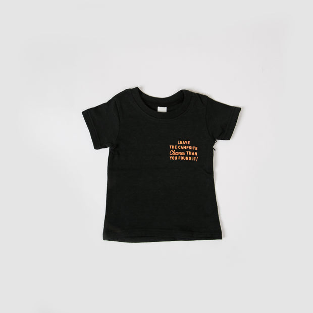 Baby Recycled Tee - Campsite - Black