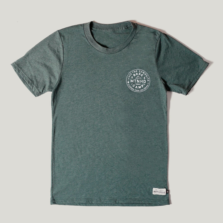 Recycled Tee - Base Camp - Heather Forest Green
