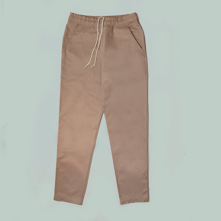 Women's Wrap Jumpsuit - Cotton/Linen Canvas - Oatmeal