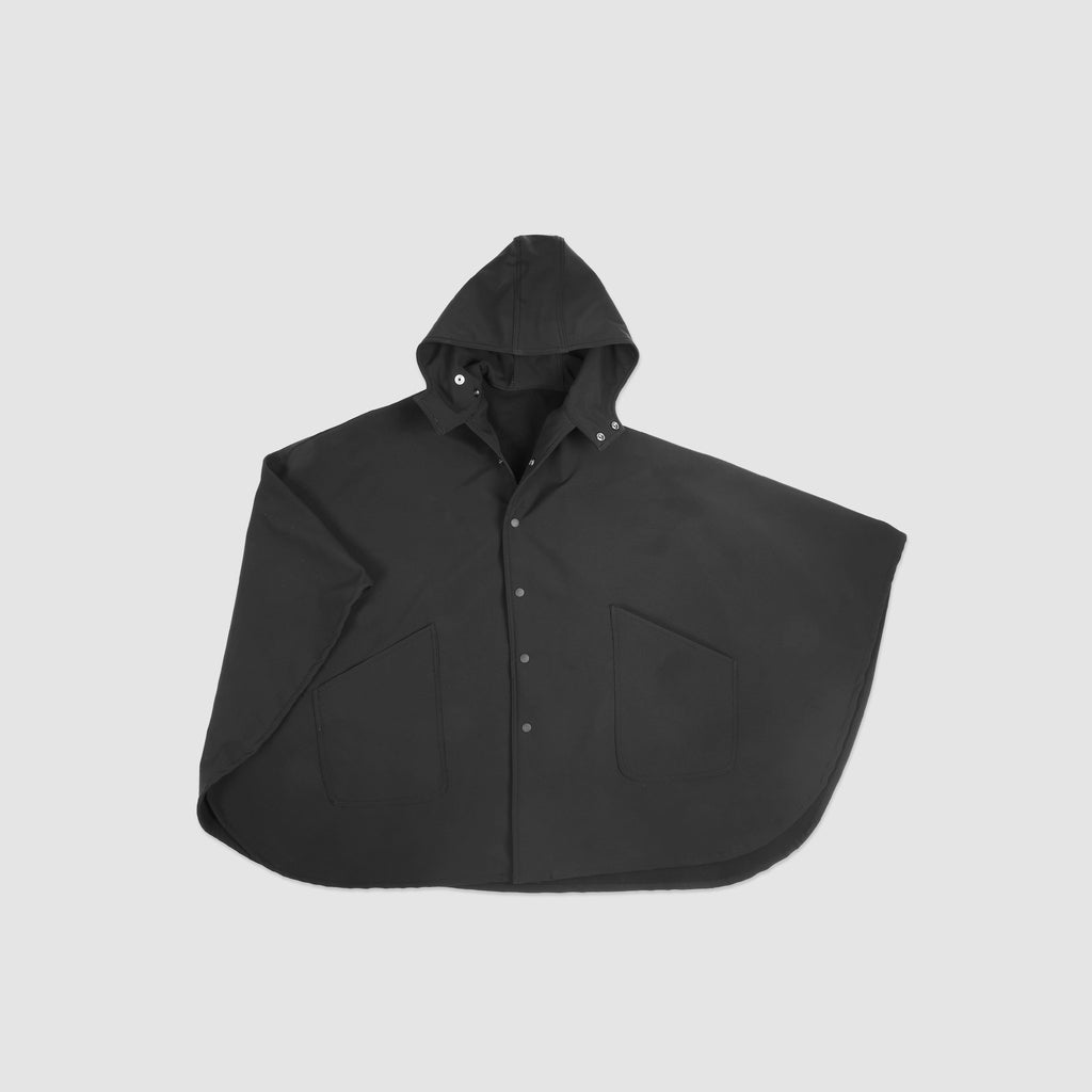 Waterproof Rain Poncho - Black