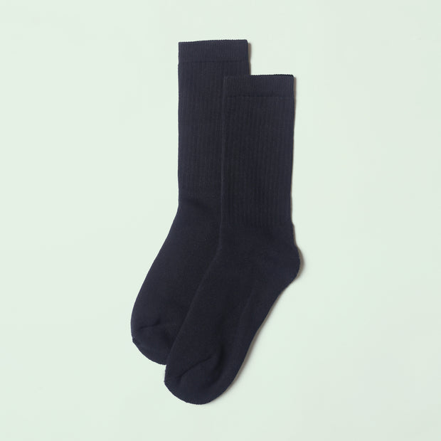 Bamboo Crew Sock - Black