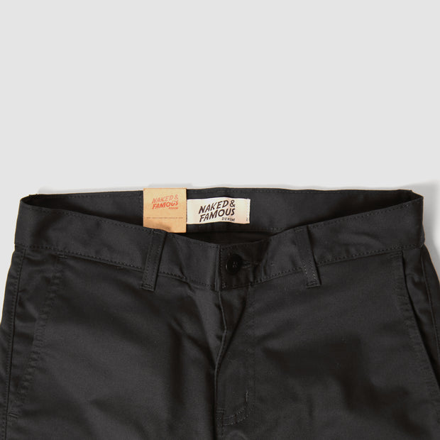 Slim Chino - Black Stretch Twill