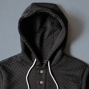 Camping Hoodie - Cross Stitch Quilt Black