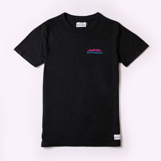 Recycled Tee - Mountain - Black