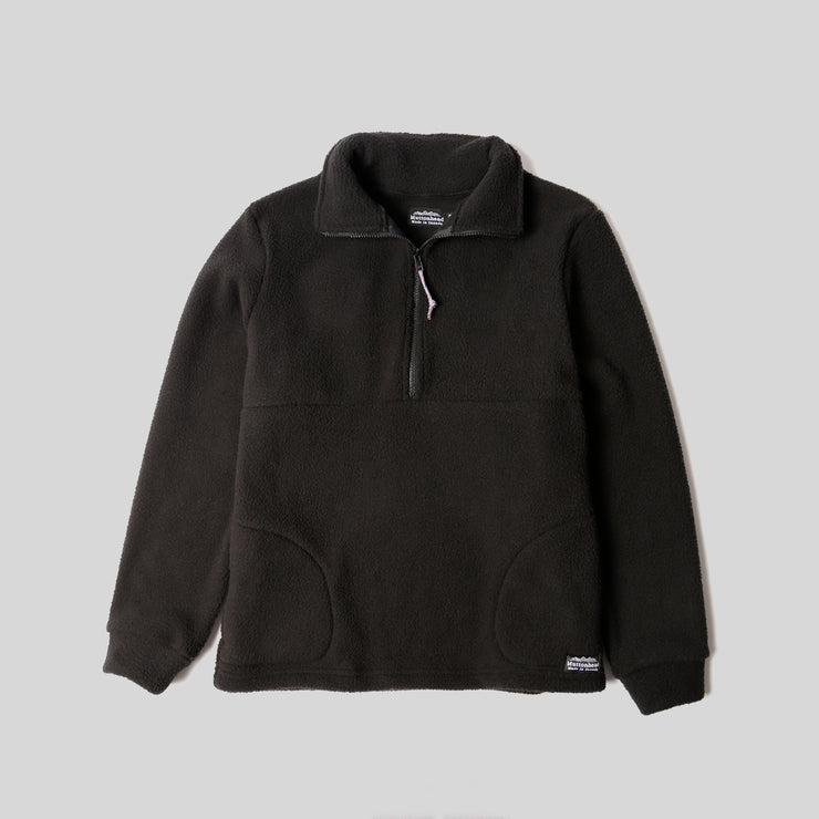 Alpine 1/4 Zip  - Black Sherpa Fleece