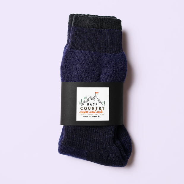 Back Country Sub - Zero Socks Navy