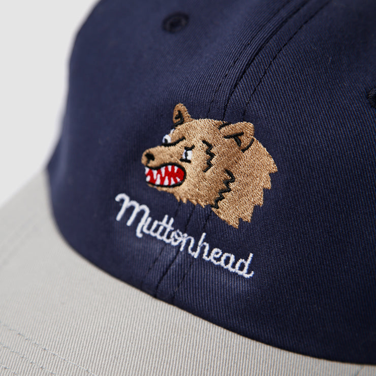 6 Panel - Navy/Grey - Bear Embroidery