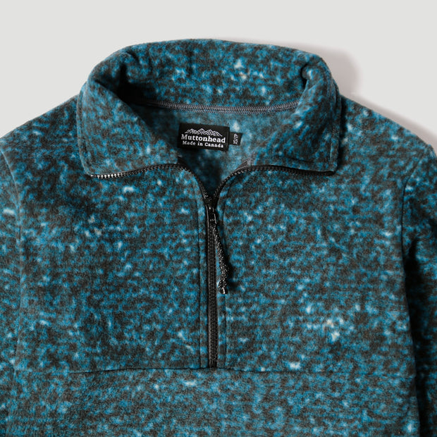 Alpine 1/4 Zip  - Ocean Speckle Polar Fleece