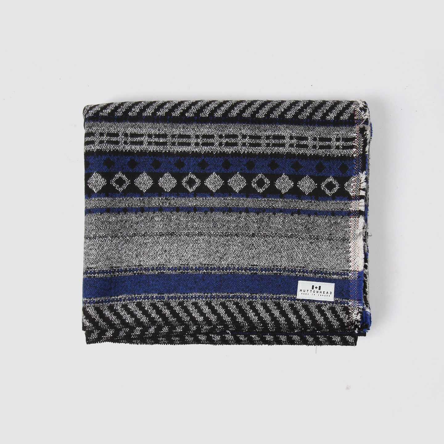 Saddle Blanket - Black & Blue