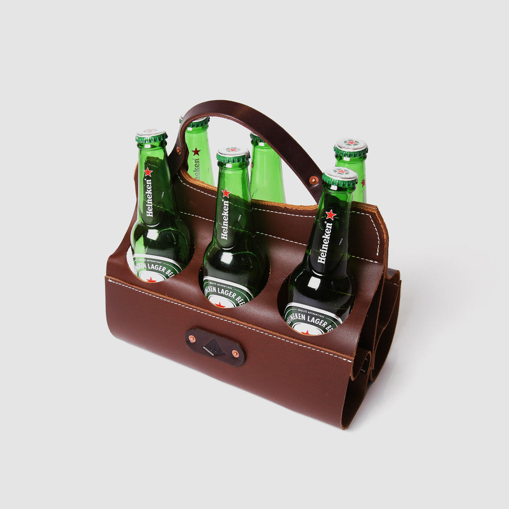 Wilboro Big Sixer Beer Caddy - Brown