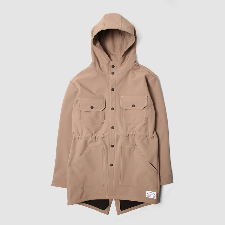 Waterproof Fishtail Parka - Camel