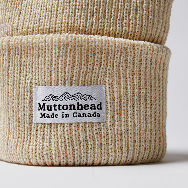 Cotton Knit Toque - Natural Neon Speckle