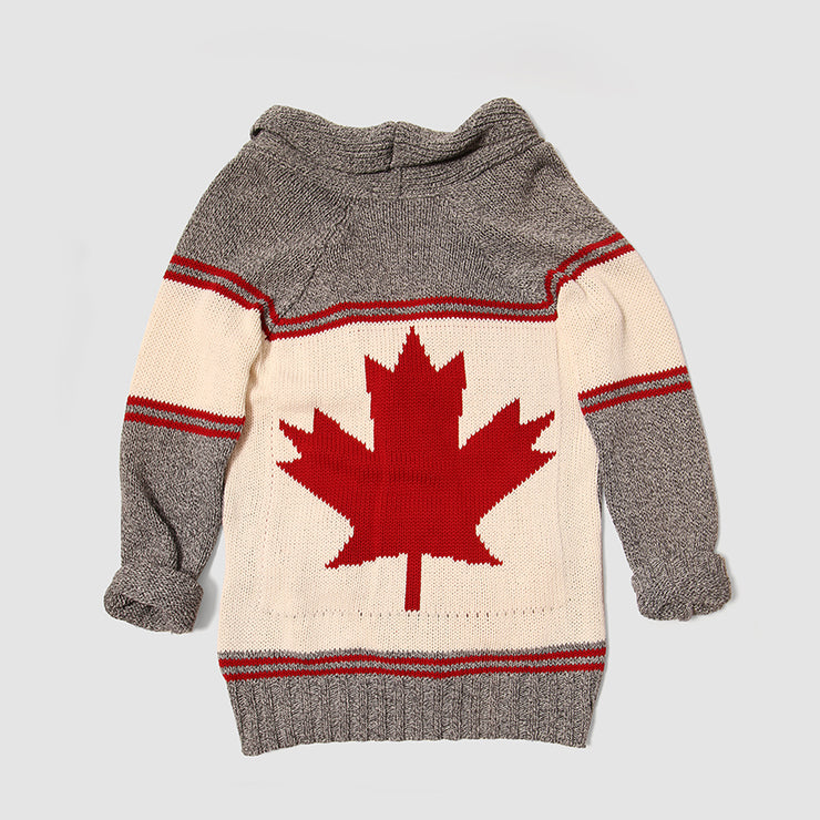 Cotton Country Canada Cardigan - Grey Tweed