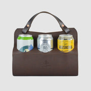 Wilboro Big Sixer Beer Caddy - Chocolate Brown