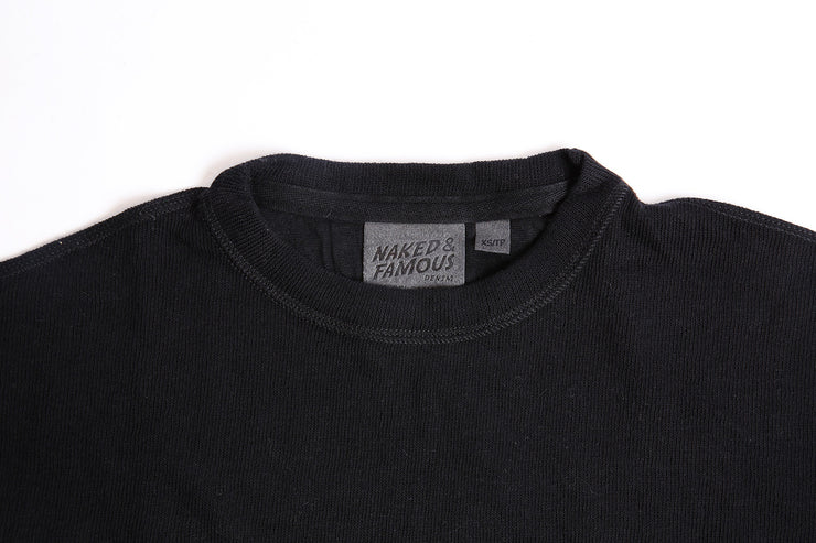Women's Weekend Crew - Black Vintage Doubleface