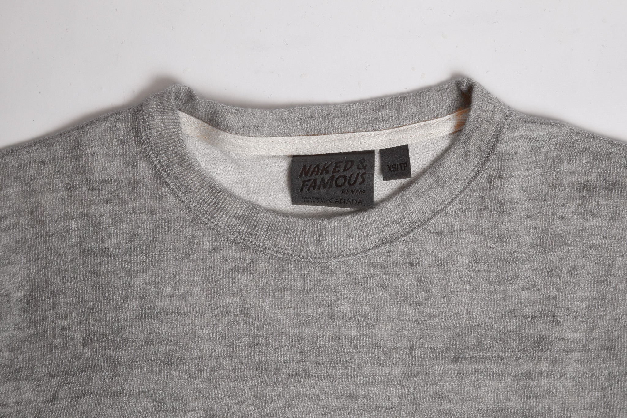 031496 Weekend Crew - Grey Vintage Doubleface