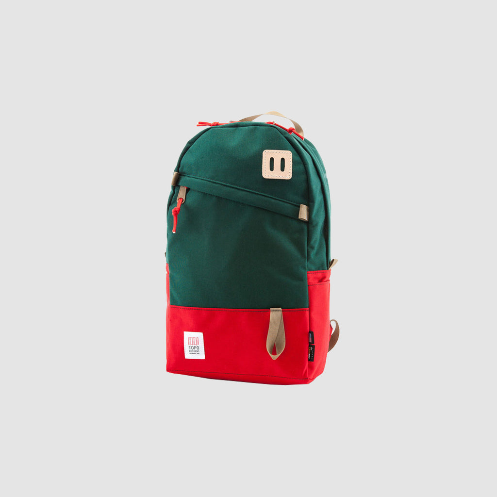 Topo Daypack - Red/Forest