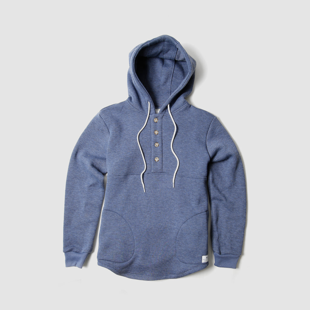 Camping Hoodie - Heather Denim