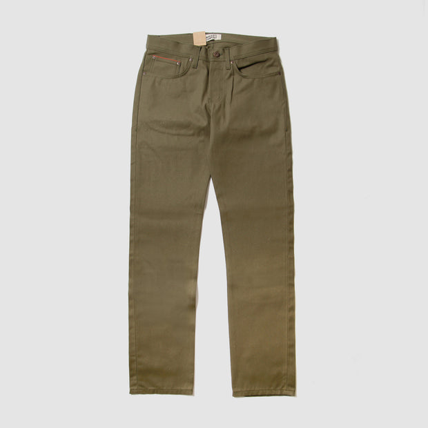 Weird Guy - Duck Selvedge - Army Green