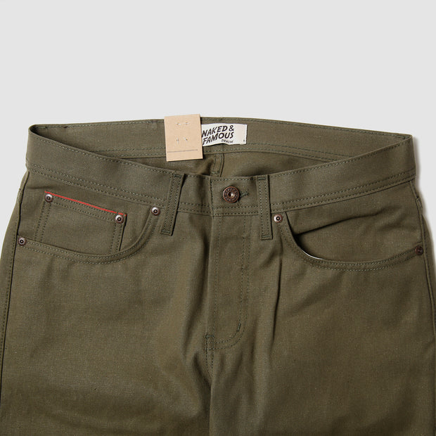 Weird Guy - Army Green Duck Selvedge