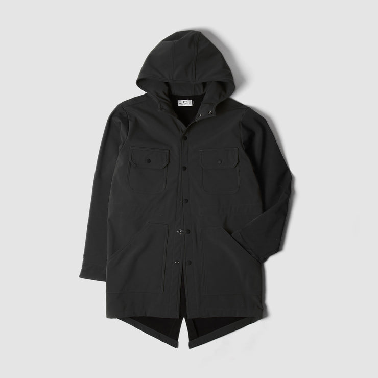 Waterproof Fishtail Parka - Black