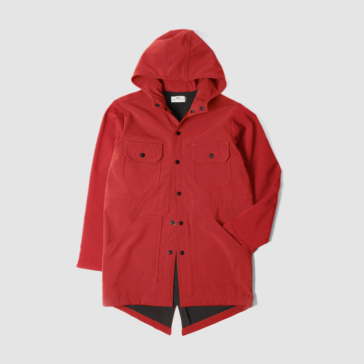 Waterproof Fishtail Parka - Red