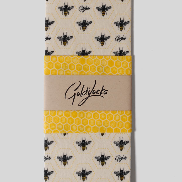 Bees Beeswax Food Wrap - Set of 2