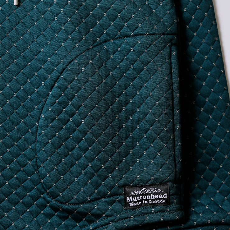 Camping Hoodie - Cross Stitch Quilt - Forest