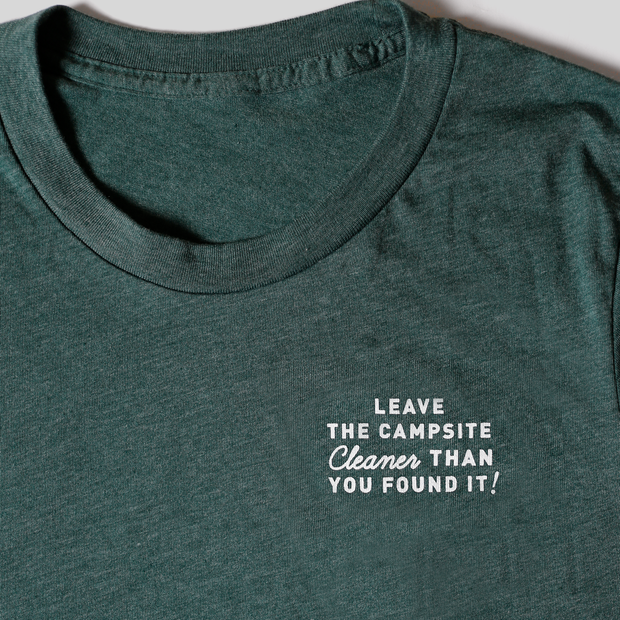 Recycled Tee - Campsite - Heather Forest Green